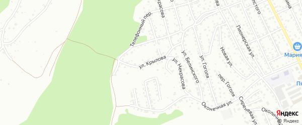 Улица Крылова на карте Горно-Алтайска с номерами домов