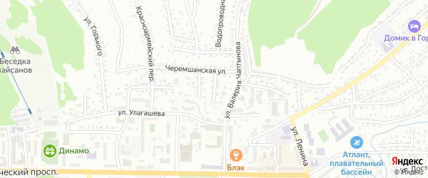 Переулок Кирова на карте Горно-Алтайска с номерами домов