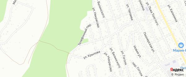 Переулок Крылова на карте Горно-Алтайска с номерами домов