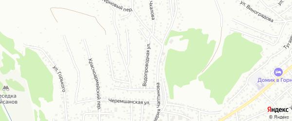 Водопроводная улица на карте Горно-Алтайска с номерами домов