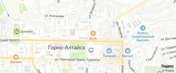 Улица В.И.Чаптынова на карте Горно-Алтайска с номерами домов