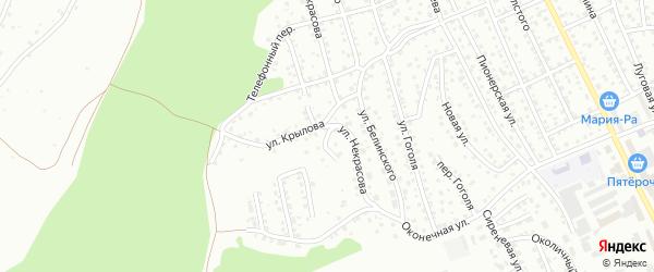 Улица Макария Глухарева на карте Горно-Алтайска с номерами домов
