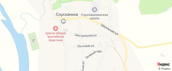 Центральная улица на карте села Соусканихи с номерами домов