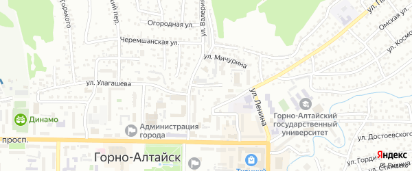 Объездная улица на карте Горно-Алтайска с номерами домов