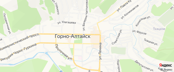 ГСК гк Коммунистический N7 N9 на карте Горно-Алтайска с номерами домов
