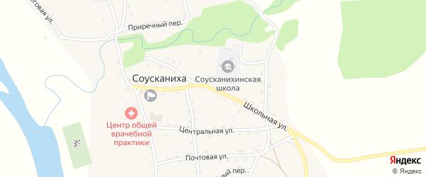 Школьная улица на карте села Соусканихи с номерами домов