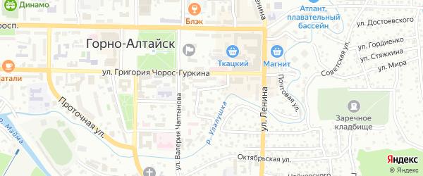 Типографский переулок на карте Горно-Алтайска с номерами домов