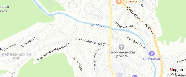 Улица Мастеровой остров на карте Горно-Алтайска с номерами домов