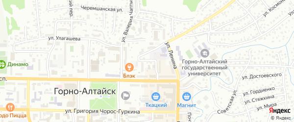 Улица Гастелло на карте Горно-Алтайска с номерами домов