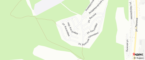 Переулок Киселева на карте Горно-Алтайска с номерами домов