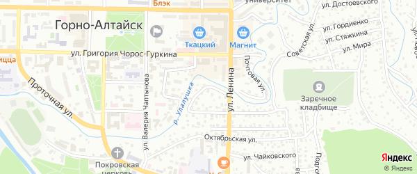 Береговая улица на карте Горно-Алтайска с номерами домов