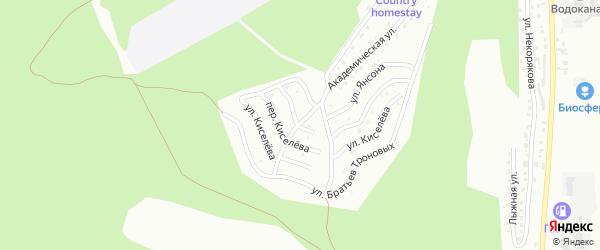 Улица Чунижекова на карте Горно-Алтайска с номерами домов