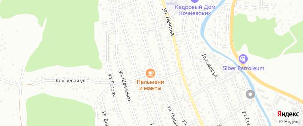 Улица Пушкина на карте Горно-Алтайска с номерами домов