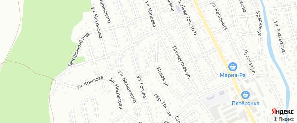 Новый переулок на карте Горно-Алтайска с номерами домов