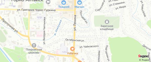 Улица Маяковского на карте Горно-Алтайска с номерами домов