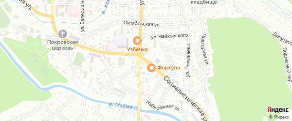 Социалистическая улица на карте Горно-Алтайска с номерами домов