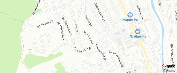 Переулок Гоголя на карте Горно-Алтайска с номерами домов