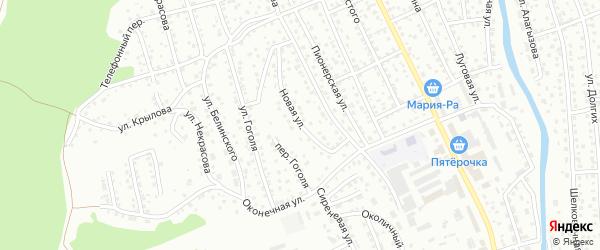 Новая улица на карте Горно-Алтайска с номерами домов