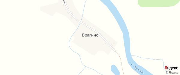 Советская улица на карте села Брагино с номерами домов