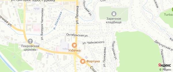 Октябрьская улица на карте Горно-Алтайска с номерами домов