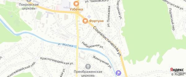 Водопойный переулок на карте Горно-Алтайска с номерами домов