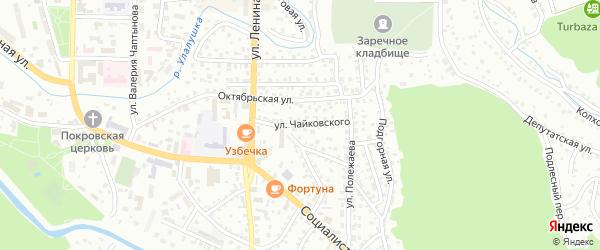 Улица Чайковского на карте Горно-Алтайска с номерами домов