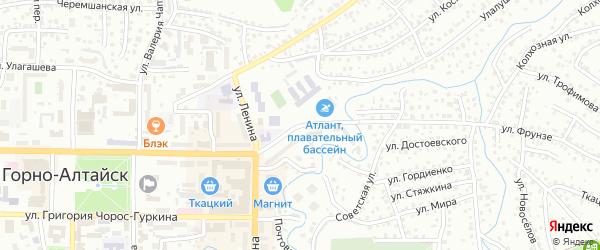 Улица Ленкина на карте Горно-Алтайска с номерами домов