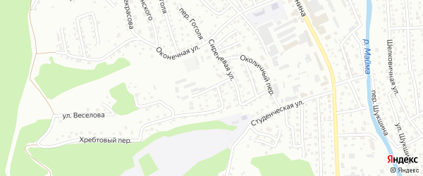 Сиреневый переулок на карте Горно-Алтайска с номерами домов