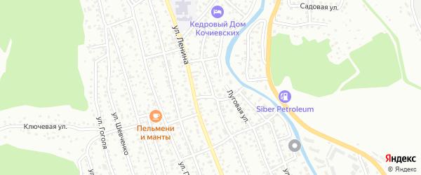 Чемальская улица на карте Горно-Алтайска с номерами домов