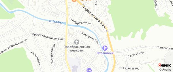 Жемчужная улица на карте Горно-Алтайска с номерами домов