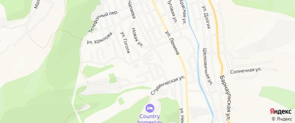 ГСК Восточный-2 на карте Горно-Алтайска с номерами домов