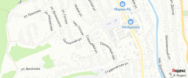 Восточный переулок на карте Горно-Алтайска с номерами домов
