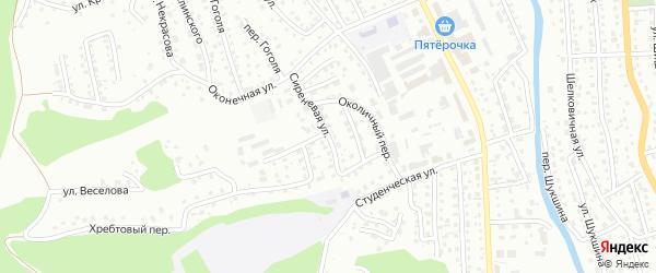Сиреневая улица на карте Горно-Алтайска с номерами домов