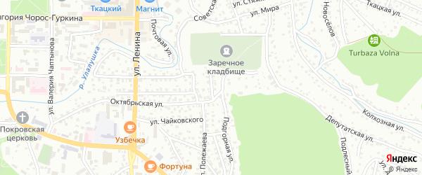 Подгорный переулок на карте Горно-Алтайска с номерами домов