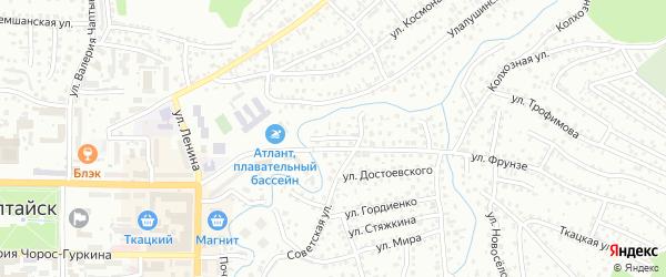 Малый переулок на карте Горно-Алтайска с номерами домов