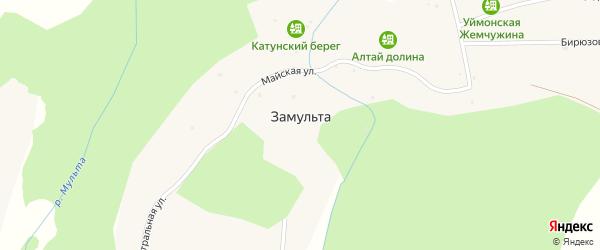 Бирюзовая улица на карте поселка Замульты с номерами домов