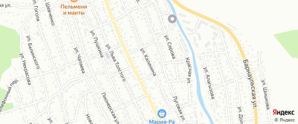 Улица Калинина на карте Горно-Алтайска с номерами домов