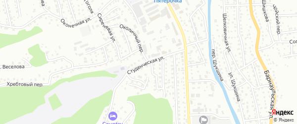 Студенческая улица на карте Горно-Алтайска с номерами домов