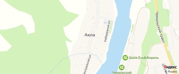 Центральная улица на карте села Аюлы с номерами домов