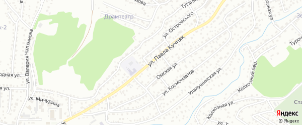 Улица П.Кучияк на карте Горно-Алтайска с номерами домов