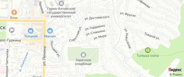 Улица Мира на карте Горно-Алтайска с номерами домов