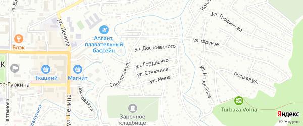 Улица Гордиенко на карте Горно-Алтайска с номерами домов