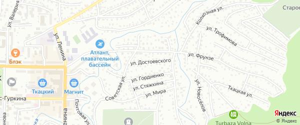 Улица Достоевского на карте Горно-Алтайска с номерами домов