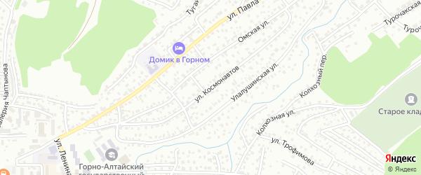 Улица Космонавтов на карте Горно-Алтайска с номерами домов