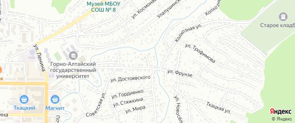 Переулок Фрунзе на карте Горно-Алтайска с номерами домов