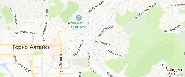 ГСК Фрунзе на карте Горно-Алтайска с номерами домов