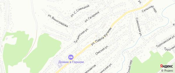 Улица Островского на карте Горно-Алтайска с номерами домов