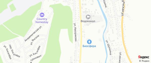 Улица Некорякова на карте Горно-Алтайска с номерами домов