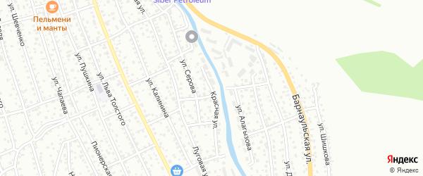Красная улица на карте Горно-Алтайска с номерами домов