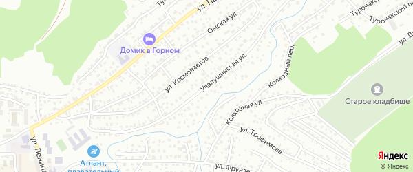 Улалушинская улица на карте Горно-Алтайска с номерами домов